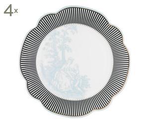 """Sada 4 talířů """"Toile"""", ø24"""
