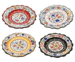 """Sada 4 talířů """"Ceramic"""", Ø 19, výš. 3 cm"""