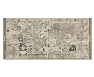 """Nástěnná dekorace """"Antique World Map"""", 108 x 4 x 51 cm"""