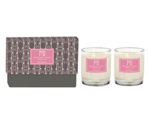 """Sada 2 svíček v krabičce """"Pink Cashmere"""", 16 x 8 x 10 cm"""