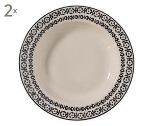 """Sada 2 hlubokých talířů """"Julie"""", Ø 25 cm"""