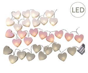 """Sada 3 světelných girland """"Hearts"""", dél. 160 cm"""
