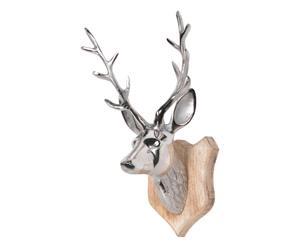 """Nástěnná dekorace """"Deer on Wood"""", 17 x 17 x 32 cm"""
