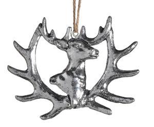 """Závěsná dekorace """"Silver Deer"""", 10 x 8 cm"""