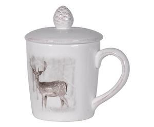 """Hrnek s pokličkou """"Deer"""", výš. 14 cm"""
