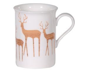 """Hrnek """"Deer Family"""", výš. 11 cm"""