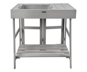 "Zahradnický stůl ""Dark Grey"", 82 x 78 x 58 cm"