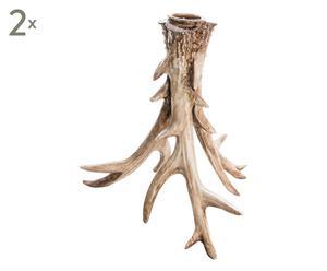 """Sada 2 svícnů """"Deer"""", 16 x 15 cm"""