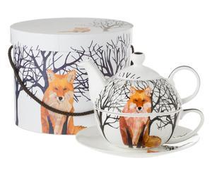 "Čajová sada v krabičce ""Winter Fox"", 4dílná, Ø 19, výš. 14 cm"