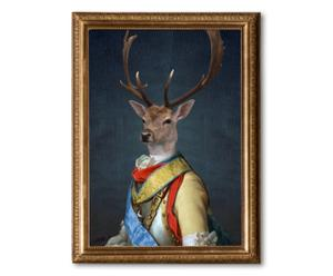 "Nástěnná dekorace ""General Stag"", 60 x 80 cm"