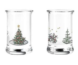 """Sada 2 skleniček """"Christmas I"""", výš. 6 cm"""