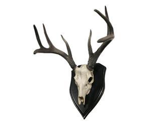 "Nástěnná dekorace ""Deer Black & White"", 44 x 36 x 45 cm"
