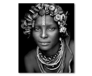 "Nástěnná dekorace ""African Beauty"", 80 x 2 x 100 cm"