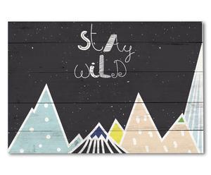 """Nástěnná dekorace """"Stay Wild"""", 60 x 3 x 40 cm"""