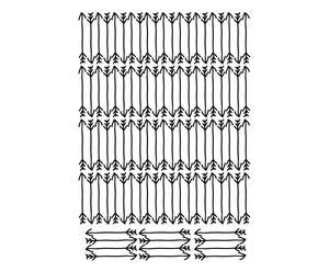 """Nástěnná samolepka """"Arrows"""", 30 x 42 cm"""