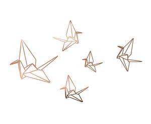"""Nástěnná samolepka """"Cobre Origami"""", 50 x 60 cm"""