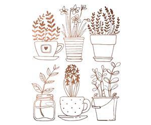 """Nástěnná samolepka """"Cobre Plants"""", 50 x 60 cm"""
