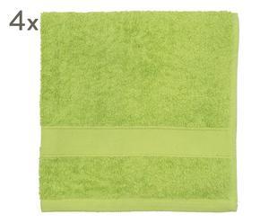 """Sada 4 ručníků """"By Walra Lime"""", 50 x 100 cm"""