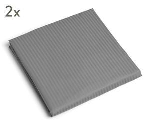 """Sada 2 prostěradel """"Stripes Grey II"""", 140 x 200 cm"""