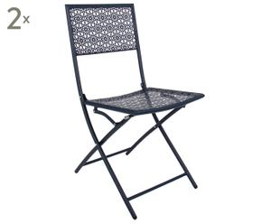 """Sada 2 zahradních židlí """"James Navy"""", 44 x 41 x 83 cm"""