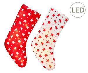 "Sada 2 LED dekorací ""Santa"", výš. 43 cm"
