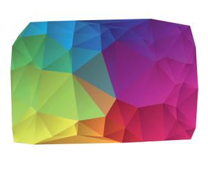 "PVC předložka ""Origami II"", 100 x 150 cm"