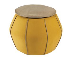 "Taburet ""Eli Yellow"", Ø 60, výš. 48 cm"