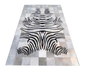 """Koberec z hovězí kůže """"Zebra"""", 140 x 200 cm"""