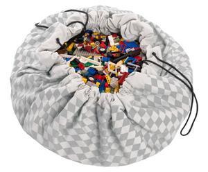 """Podložka/vak na hračky """"Zig Zag Grey"""", Ø 140 cm"""