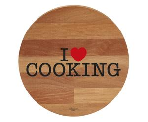 "Deska do krojenia ""I Love Cooking"", Ø 30, wys. 1,9 cm"