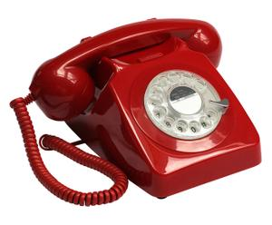 "Telefon ""Vintage Red"", 13 x 25 x 20 cm"