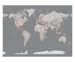 """Nástěnná dekorace """"Silver Map II"""", 232 x 158 cm"""