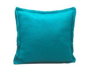 """Polštář """"Lush Turquoise"""", 45 x 45 x 10 cm"""