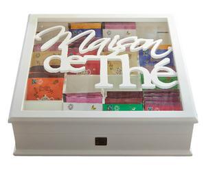 "Krabička na čaj ""Maison de Thé"", 31 x 31 x 9,5 cm"