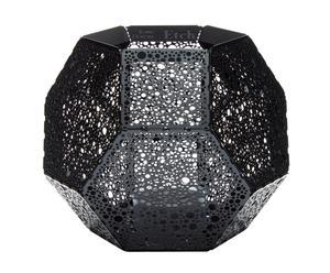 """Svícen """"Etch Black"""", 12,6 x 10,2 cm"""