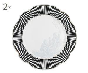 """Sada 2 talířů """"Toile III"""", Ø 29 cm"""