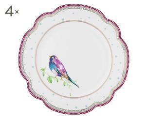 """Sada 4 talířů """"Birdie II"""", Ø 24 cm"""
