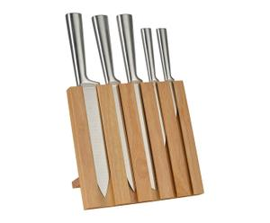 "Sada 5 nožů ve stojanu ""Earthy"", 21 x 23 x 16,5 cm"