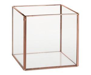 """Miniskleník """"Cuadrado Copper"""", 12 x 12 x 12 cm"""