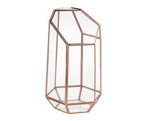 """Miniskleník """"Geo Copper"""", Ø 12,8, výš. 23,5 cm"""