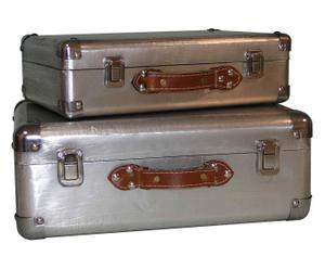 """Sada 2 dekoračních kufrů """"Suitcase"""""""