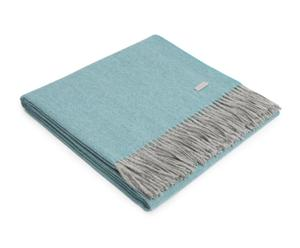 """Pléd """"Exclusive Fishbone Turquoise-Silver"""", 200 x 130 cm"""