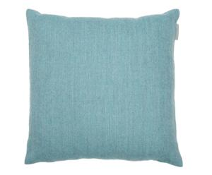 "Povlak na polštář ""Fishbone Turquoise-Silver"", 40 x 40 cm"