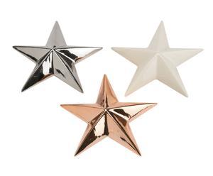 "Sada 3 dekorací ""Star II"", 13 x 12 x 5 cm"