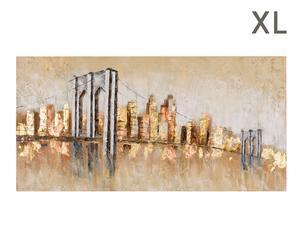 """Obraz olejny """"Gold dust"""", 4 x 170 x 70 cm"""