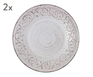 "Sada 2 talířů ""Constance"", Ø 28, výš. 4 cm"