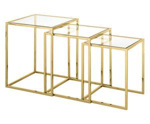 """Sada 3 konferenčních stolků """"Nicola Golden"""""""