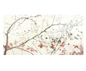 """Sada 3 nástěnných dekorací """"Asian Bloosoms"""", 40 x 2 x 60 cm"""