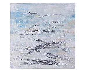 """Olejomalba """"Village"""", 100 x 100 cm"""