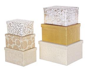 """Sada 6 dekoračních krabiček """"Meteore"""""""